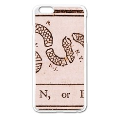 Original Design, Join Or Die, Benjamin Franklin Political Cartoon Apple Iphone 6 Plus/6s Plus Enamel White Case by thearts