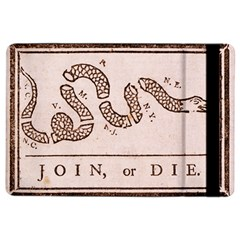 Original Design, Join Or Die, Benjamin Franklin Political Cartoon Ipad Air 2 Flip by thearts
