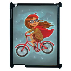 Girl On A Bike Apple Ipad 2 Case (black)