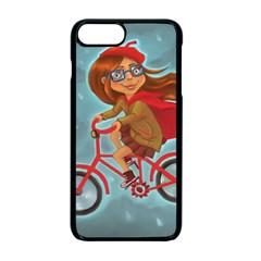 Girl On A Bike Apple Iphone 7 Plus Seamless Case (black)