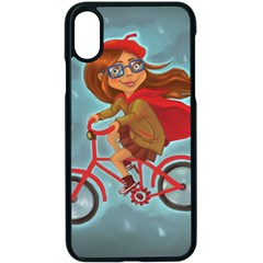 Girl On A Bike Apple Iphone X Seamless Case (black)