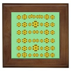 Sun Flowers For The Soul At Peace Framed Tiles by pepitasart