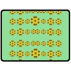 Sun Flowers For The Soul At Peace Fleece Blanket (large)  by pepitasart