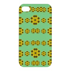 Sun Flowers For The Soul At Peace Apple Iphone 4/4s Hardshell Case by pepitasart
