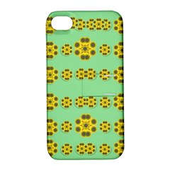 Sun Flowers For The Soul At Peace Apple Iphone 4/4s Hardshell Case With Stand by pepitasart
