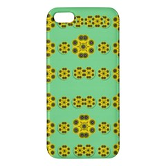 Sun Flowers For The Soul At Peace Apple Iphone 5 Premium Hardshell Case by pepitasart