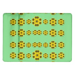 Sun Flowers For The Soul At Peace Samsung Galaxy Tab 10 1  P7500 Flip Case by pepitasart