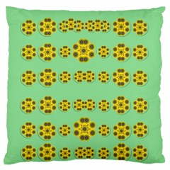 Sun Flowers For The Soul At Peace Standard Flano Cushion Case (one Side) by pepitasart