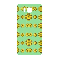 Sun Flowers For The Soul At Peace Samsung Galaxy Alpha Hardshell Back Case by pepitasart
