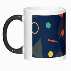 Blue Background Backdrop Geometric Morph Mugs by Nexatart