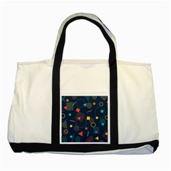 Blue Background Backdrop Geometric Two Tone Tote Bag