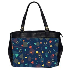 Blue Background Backdrop Geometric Office Handbags (2 Sides)