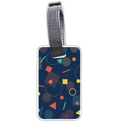 Blue Background Backdrop Geometric Luggage Tags (two Sides)