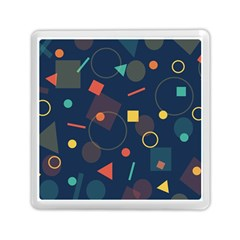 Blue Background Backdrop Geometric Memory Card Reader (square)