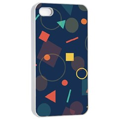 Blue Background Backdrop Geometric Apple Iphone 4/4s Seamless Case (white)