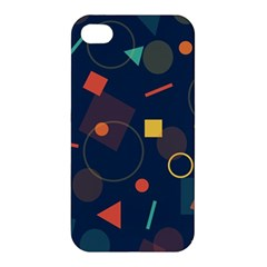 Blue Background Backdrop Geometric Apple Iphone 4/4s Hardshell Case