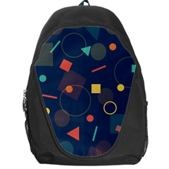 Blue Background Backdrop Geometric Backpack Bag