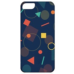 Blue Background Backdrop Geometric Apple Iphone 5 Classic Hardshell Case