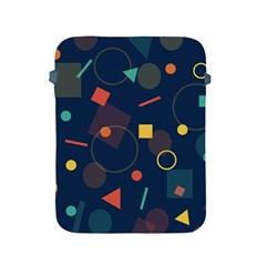 Blue Background Backdrop Geometric Apple Ipad 2/3/4 Protective Soft Cases