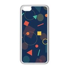 Blue Background Backdrop Geometric Apple Iphone 5c Seamless Case (white)