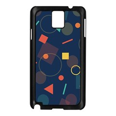 Blue Background Backdrop Geometric Samsung Galaxy Note 3 N9005 Case (black)