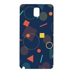 Blue Background Backdrop Geometric Samsung Galaxy Note 3 N9005 Hardshell Back Case by Nexatart