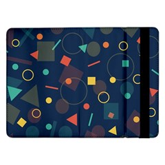 Blue Background Backdrop Geometric Samsung Galaxy Tab Pro 12 2  Flip Case