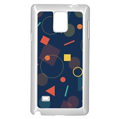 Blue Background Backdrop Geometric Samsung Galaxy Note 4 Case (white)