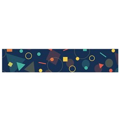 Blue Background Backdrop Geometric Small Flano Scarf
