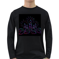 Advent Wreath Candles Advent Long Sleeve Dark T Shirts
