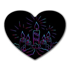 Advent Wreath Candles Advent Heart Mousepads