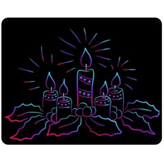 Advent Wreath Candles Advent Fleece Blanket (medium)