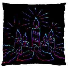 Advent Wreath Candles Advent Large Cushion Case (one Side)