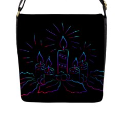 Advent Wreath Candles Advent Flap Messenger Bag (l)