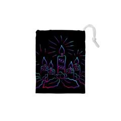 Advent Wreath Candles Advent Drawstring Pouches (xs)