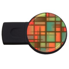 Background Abstract Colorful Usb Flash Drive Round (2 Gb)