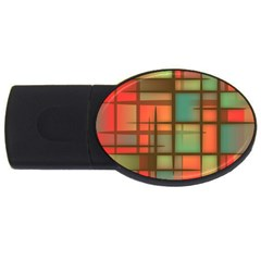 Background Abstract Colorful Usb Flash Drive Oval (2 Gb)