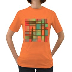 Background Abstract Colorful Women s Dark T Shirt