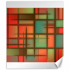 Background Abstract Colorful Canvas 8  X 10