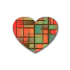 Background Abstract Colorful Rubber Coaster (heart)