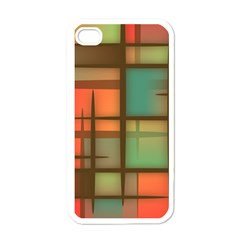 Background Abstract Colorful Apple Iphone 4 Case (white)