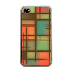Background Abstract Colorful Apple Iphone 4 Case (clear)