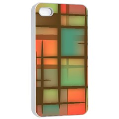 Background Abstract Colorful Apple Iphone 4/4s Seamless Case (white)
