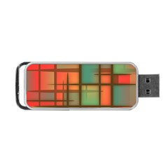 Background Abstract Colorful Portable Usb Flash (two Sides)