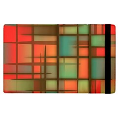 Background Abstract Colorful Apple Ipad 3/4 Flip Case