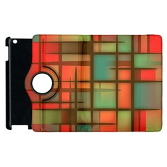 Background Abstract Colorful Apple Ipad 3/4 Flip 360 Case
