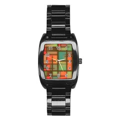 Background Abstract Colorful Stainless Steel Barrel Watch