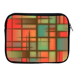 Background Abstract Colorful Apple Ipad 2/3/4 Zipper Cases