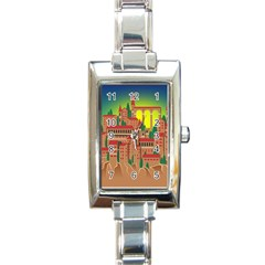 Mountain Village Mountain Village Rectangle Italian Charm Watch