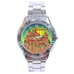 Mountain Village Mountain Village Stainless Steel Analogue Watch